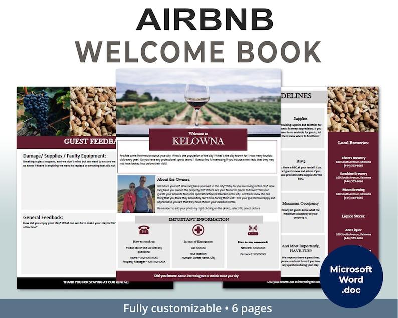 KELOWNA - Welcome Book - Guest Book - Airbnb - Vacation Rental - Printable  - Template - Wine Country - Rental Guidebook - VRBO