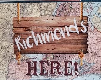 Woodsides Here! show swag Disney-inspired flat magnet musical NEWSIES-inspired