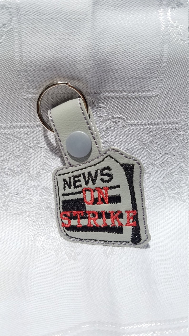 Newsies Keyring Bag Tag. The Musical