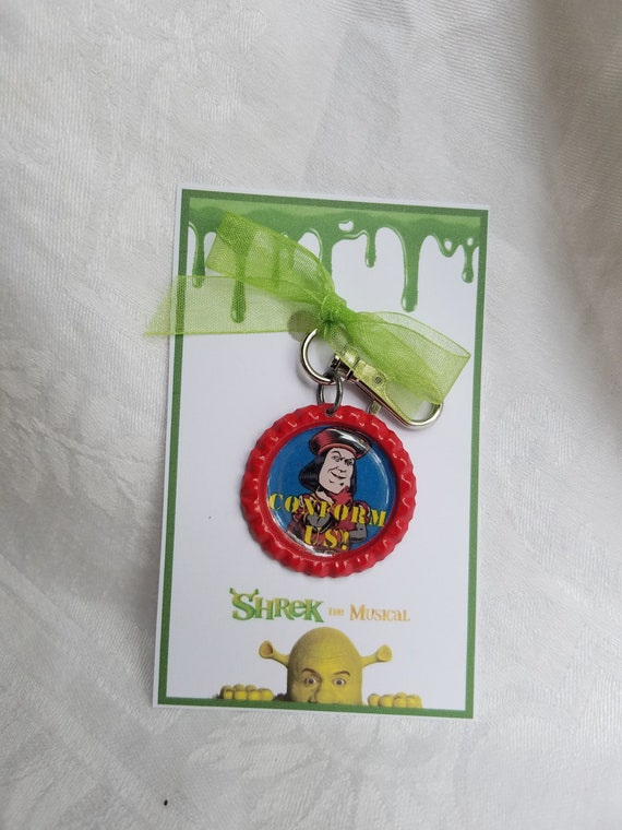 The Musical Bag Tag. Keyring Shrek