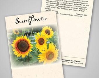 Autumn Beauty Sunflower Packets, set of 20