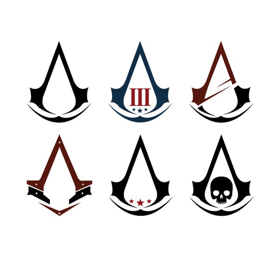 Assassin Creed Graphics Svg Dxf Eps Png Cdr Ai Pdf Vector Art Etsy