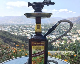 Myers's® Hookah Shisha Narghile Chicha 1L Jamaican Rum Custom Glass Bottle