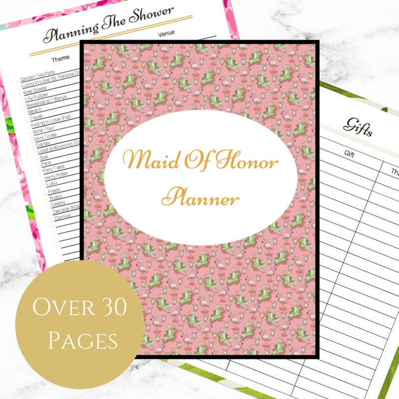 graphic about Maid of Honor Printable Planner referred to as Maid of Honor Planner - Printable - Winery Vines Gators