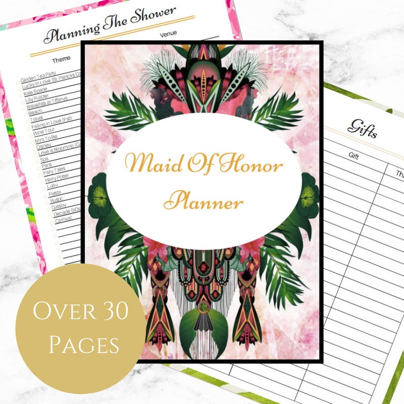 picture about Printable Paradise titled Maid of Honor Planner - Printable - Paradise