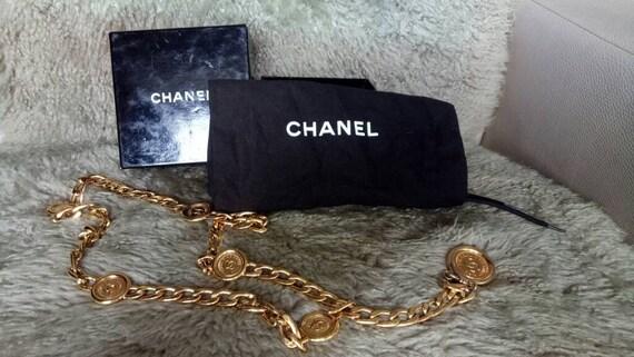 Vintage Chanel CC Gold Chain Belt