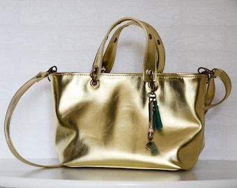 Wild 2 Mini leather tote bag