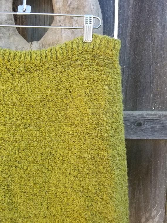 Wool chartreuse Skirt - image 2