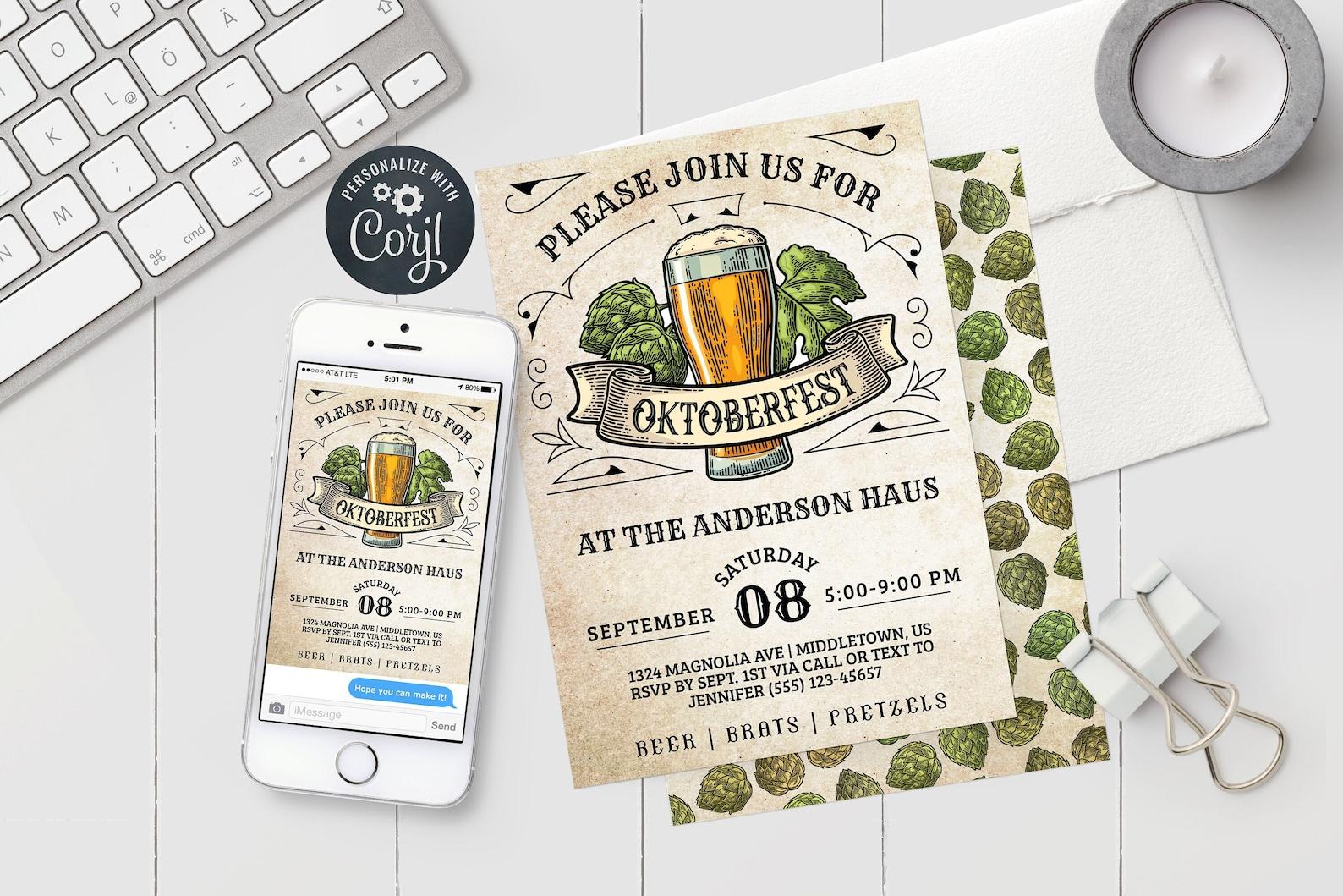 Printable Oktoberfest Invitation