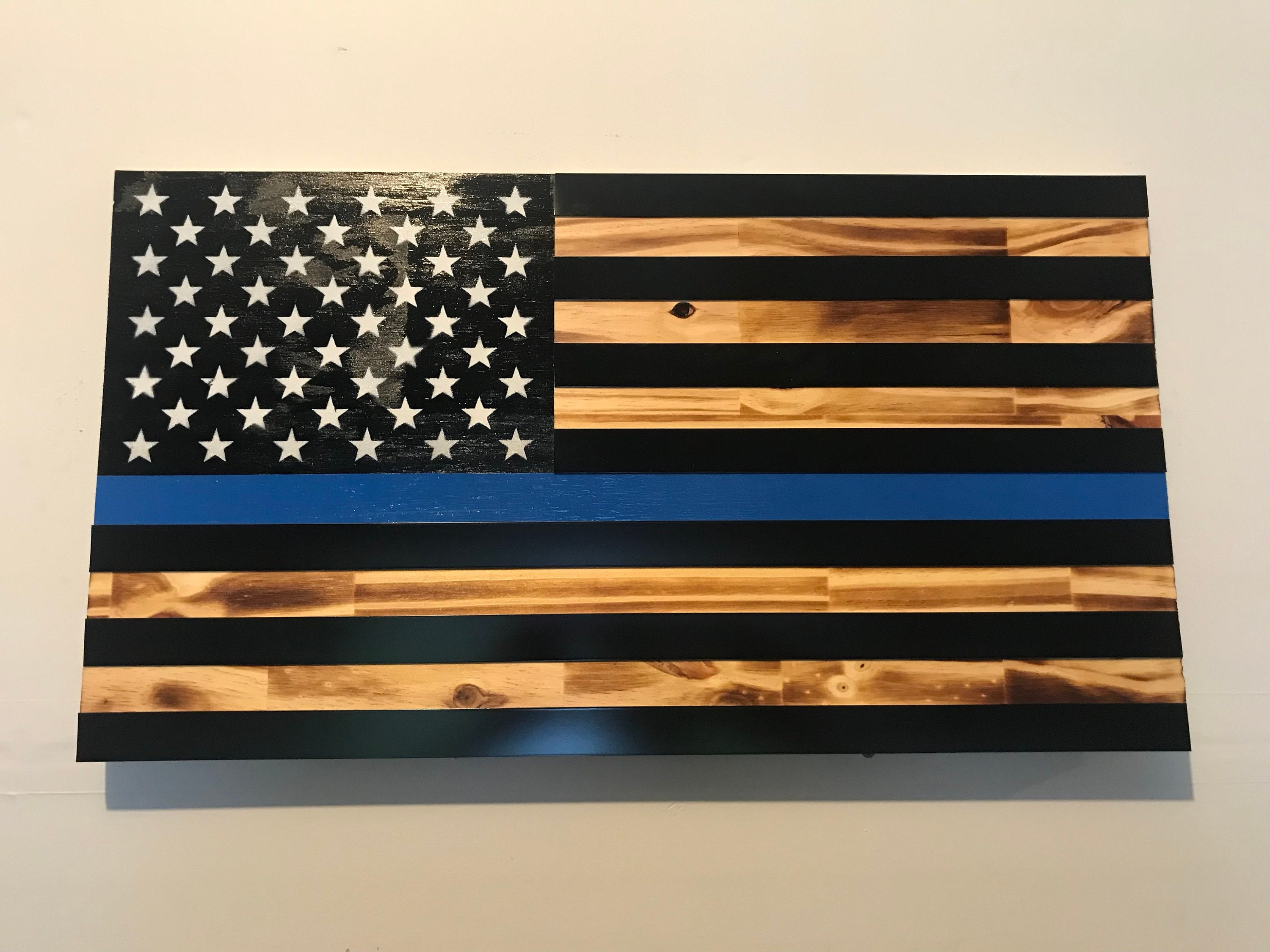 Thin Blue Line Police Support Flag  b1c2d4d3188