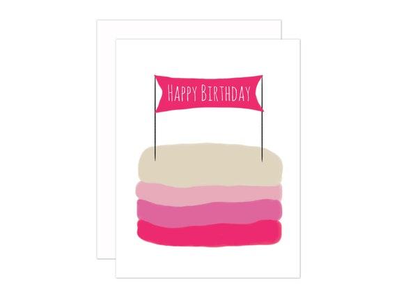Verjaardag Cake Happy Birthday Wenskaart Wensen Verjaardag Opmerking Kaart