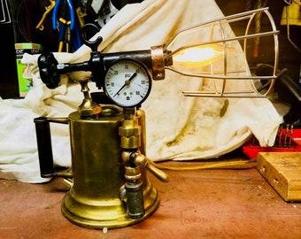 Antique torch lamp
