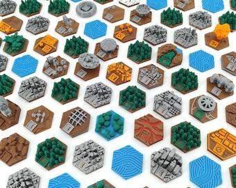 Terraforming Mars Tiles Pack - 90 Tiles