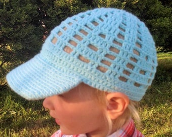 Cute Blue Mint Crochet Baby Hat For Girls Boys With Crochet Cap Handmade Stylish Handicrafted Cotton Natural