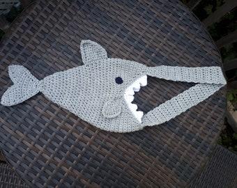 Handmade Crochet Shark Bag