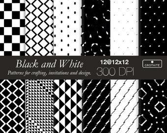 Zwart-wit digitale papier