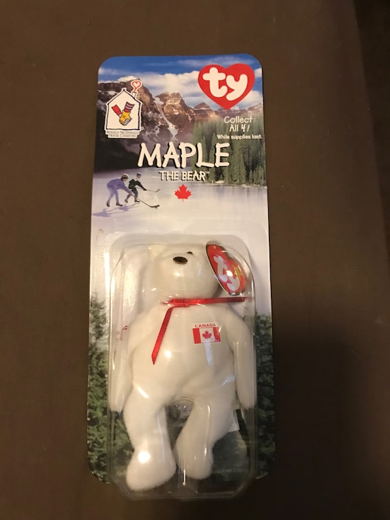 TY Beanie Baby Maple Ronald McDonald House with Rare Tag Error  fd0d0f71521d