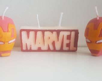 Marvel Sign and Iron Man: Birthday/ Tea light candle