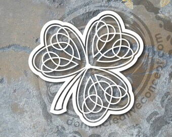 "5""x5"" Irish Shamrock Knot Vinyl Decal"
