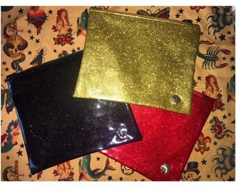 d7976202ec1c Conchita Couture Metalflake Vinyl Makeup Bag