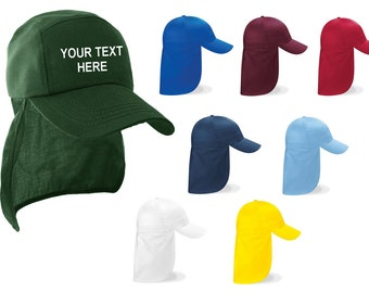 871451aa9a89c Personalised Beechfield Junior kids Legionnaire-Style Cap
