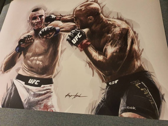 A4 ROBBIE LAWLER /& RORY MACDONALD PHOTO PRINT POSTER PRE SIGNED 12X8 INCH