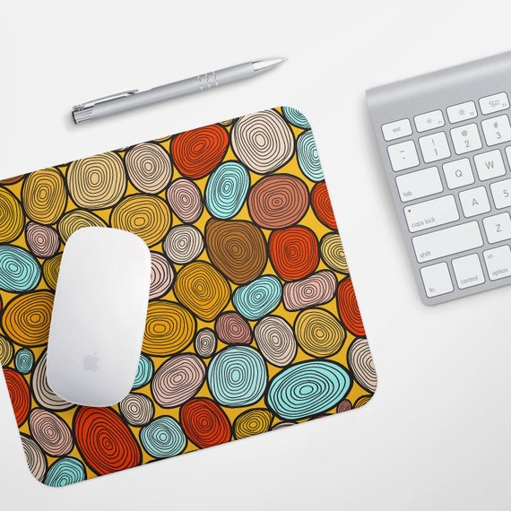 Colorful office accessories Funky Image Etsy Colorful Mousepad Desk Decor Mousemat Office Accessories Mouse Etsy