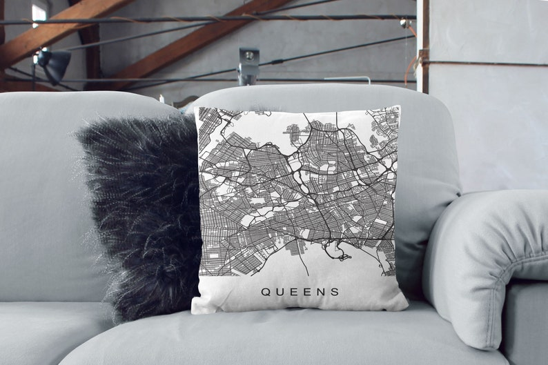Queens Map Print NY City NYC