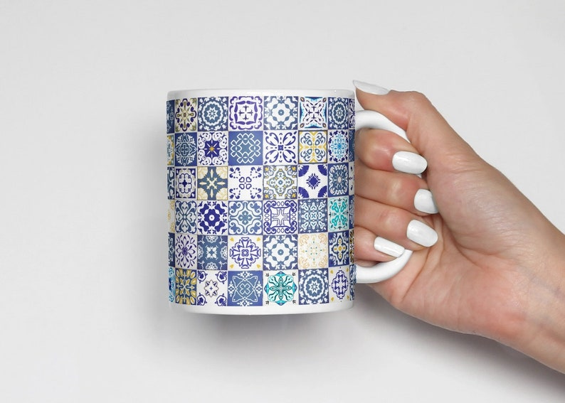 Decor Mug Gift Azulejos Coffee Portuguese Housewarming Office Kitchen Gifts Tiles EH9DYWI2