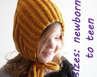 02797ad947d DOWNLOADABLE PDF PATTERN Elf Pixie Cabled bonnet