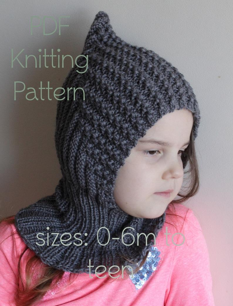Vintage Knitting Pattern Balaclava Pixie Hats For Men Boys Girls Ladies  H1076