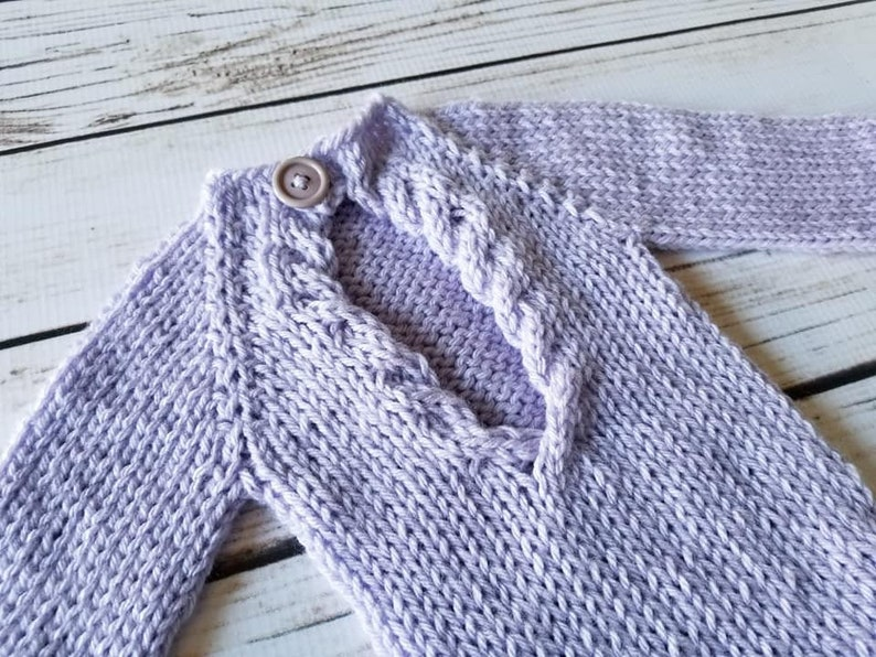 PDF Knitting Pattern open back onesie newborn photo prop ...