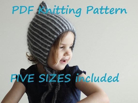 e11b083358db PDF KNITTING PATTERN baby bonnet knitting pattern brioche   Etsy
