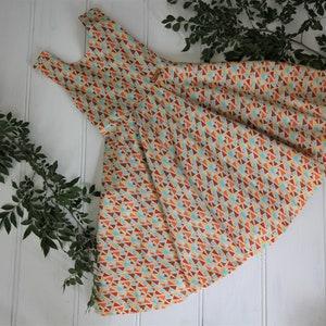 Free Shipping Australia Wide Handmade Girls Geometric Cotton Summer Dress