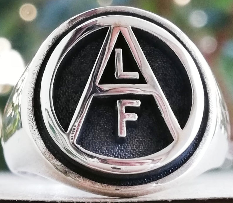 Solid Sterling Silver 925 Animal Liberation symbol Human ALF Animal Welfare Rights Handmade 3D Ring