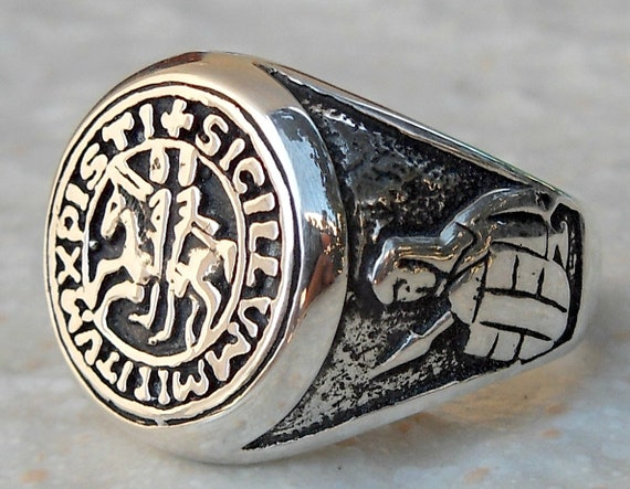 RING TEMPLAR silver 925 sterling silver