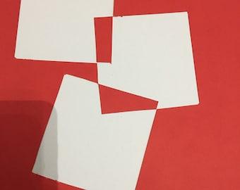 Cardboard square cut out A4