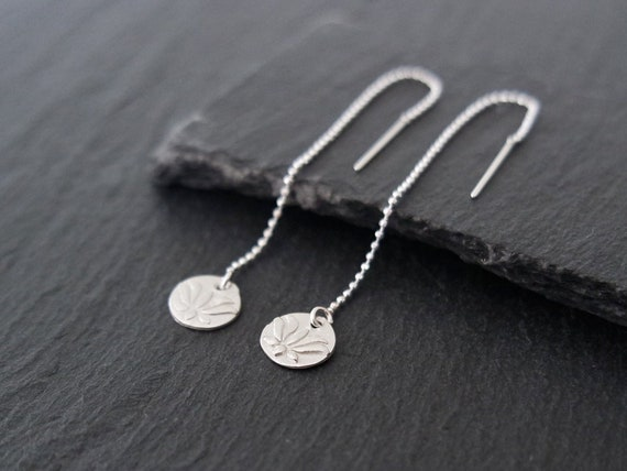 """New 925 Sterling Silver Anklet and Fine Silver Lotus Leaf Charm 9/"""" or 10/"""" Italy"""