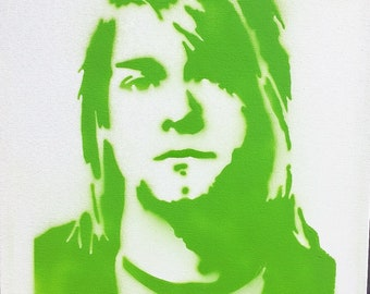 Kurt Cobain Stencil Canvas