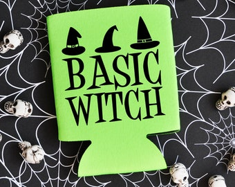 Basic Witch - Halloween Can Cooler / Beer Holder / Party Favor / Halloween Party / Halloween Favor / Halloween Trip / Halloween Can Holder