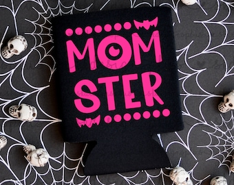MOMSTER - Halloween Can Cooler / Beer Holder / Party Favor / Halloween Party / Halloween Favor / Halloween Trip / Halloween Can Holder