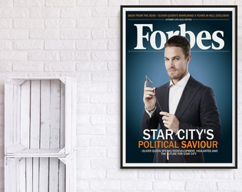 Arrow Oliver Queen Forbes Magazine Cover