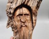 Wise wood spirit 2. Wallhanging. Cedar. Cedar carving. Tree spirit.