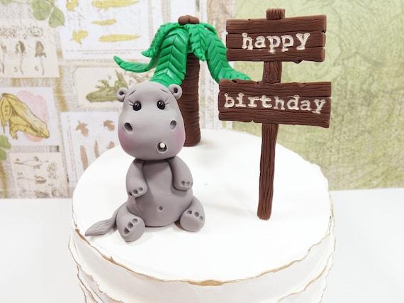 Sensational Hippo Cake Topper Baby Hippo Cake Topper Safari Cake Topper Etsy Personalised Birthday Cards Akebfashionlily Jamesorg