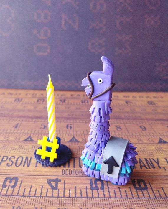 Fortnite Supply Llama Birthday Candle Cake Topper Etsy