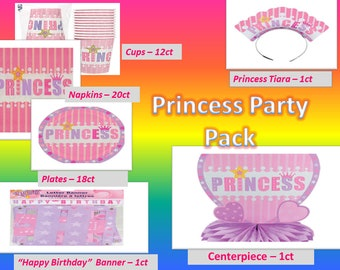 Princess Birthday Party Pack 70+ pieces