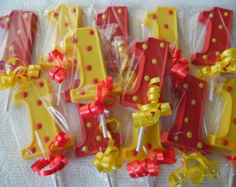 20 Number 1 W Polka Dots 1st First Birthday Favors With Free Favor Tags And Ice Pack For Shipping