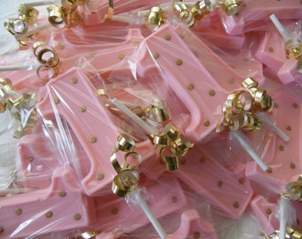 20 Number 1 Pink With Gold Polka Dots 1st First Birthday Chocolate Lollipop Favors Free Favor Tags And Ice Pack For Shipping