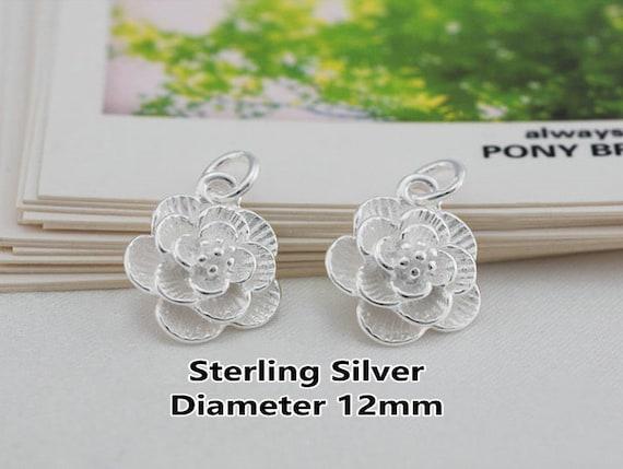 Flower Pendant .925 Sterling Silver Charm