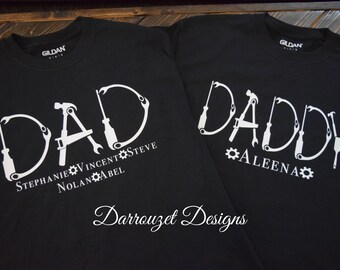 872cabf3 Father's Day Shirt/ Dad Tool Shirt/ Personalized Fathers Day Shirt/ Gift  for Dad/ Custom Dad Tee